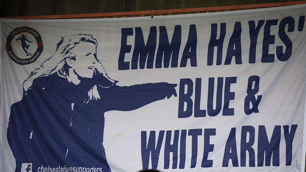 Emma Hayes fan banner