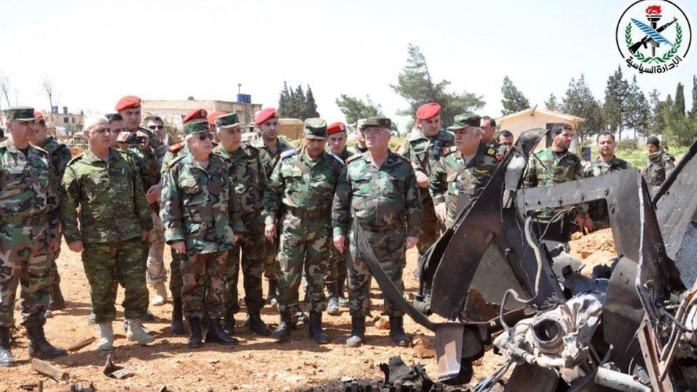 Syrian military oversees damage at Shayrat