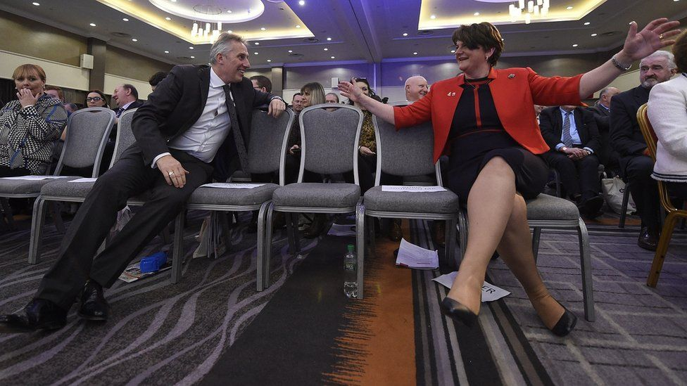 Ian Paisley and Arlene Foster at the DUP conference in November
