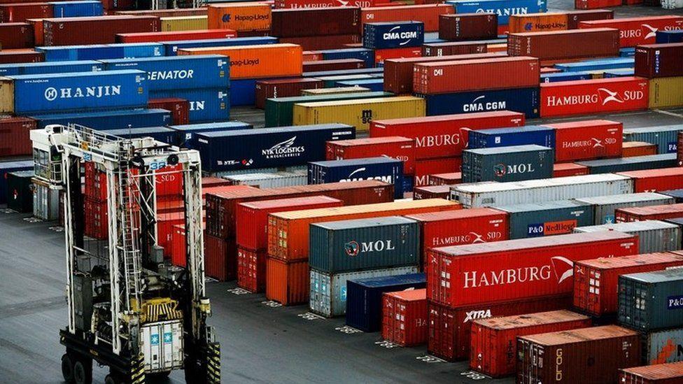 Freight at Tilbury docks