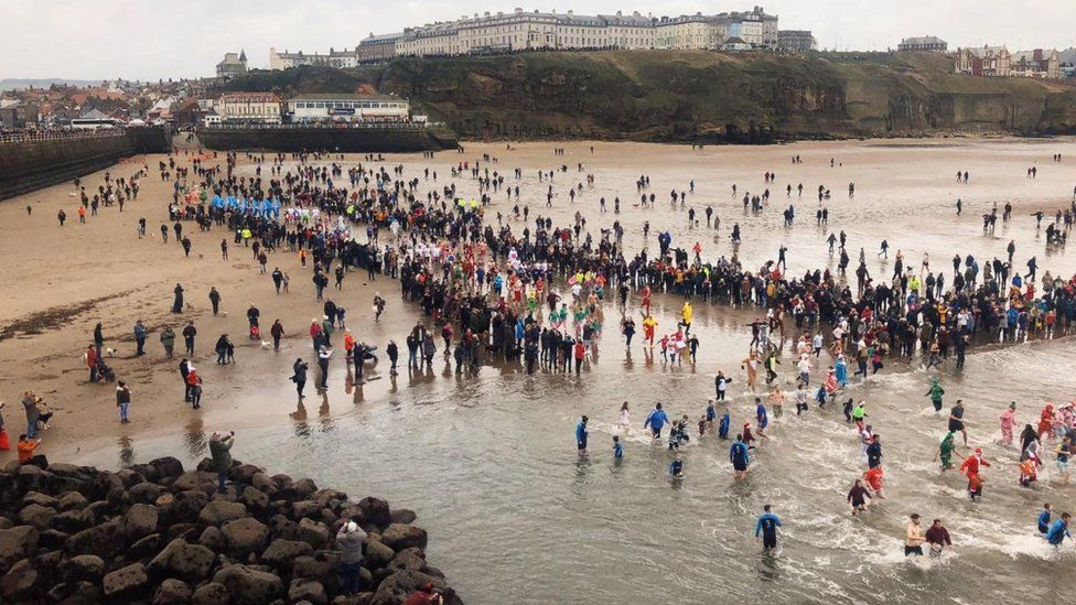 The Boxing Day dip in Whitby