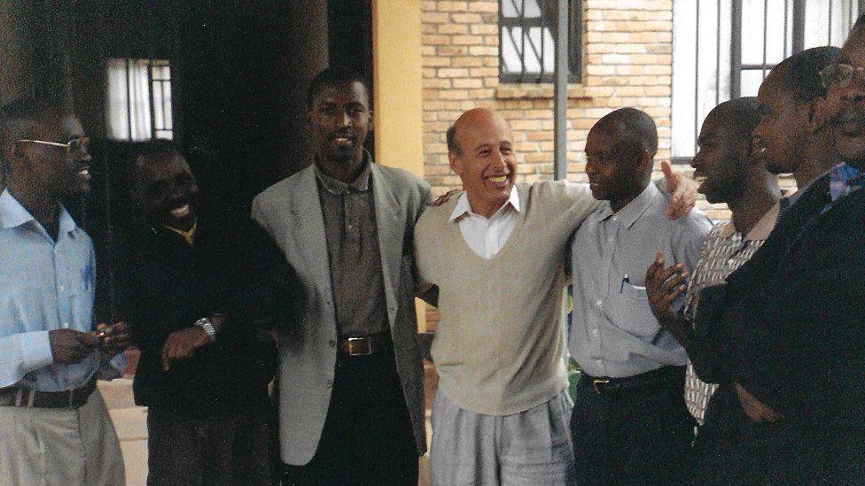Dr Ervin Staub in Rwanda