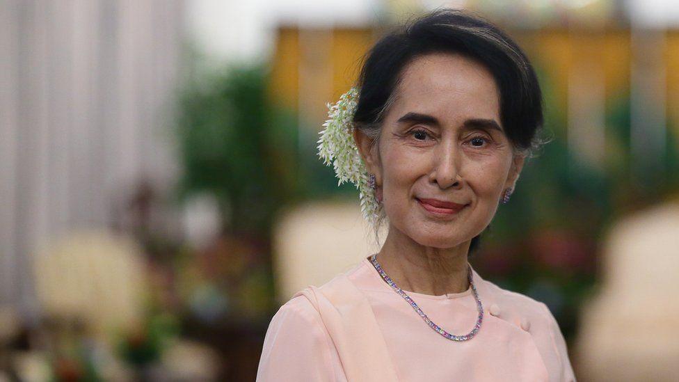 Myanmar: Aung San Suu Kyi's party wins majority in election - BBC News