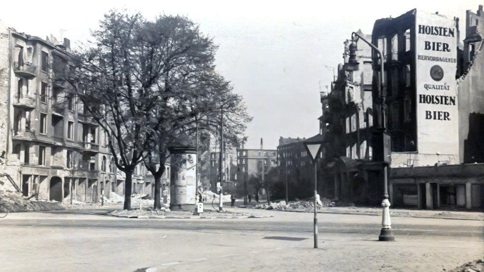 Hamburg street after bombing