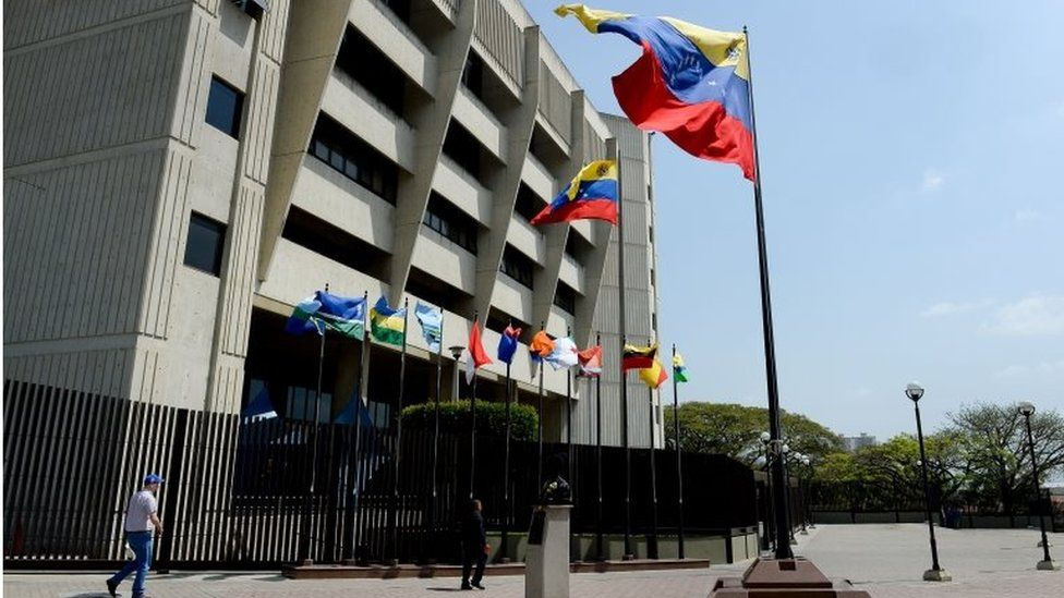 Picture of the Supreme Court building in Caracas taken on February 12, 2016
