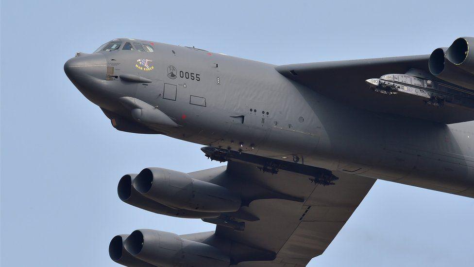 A US B-52 bomber