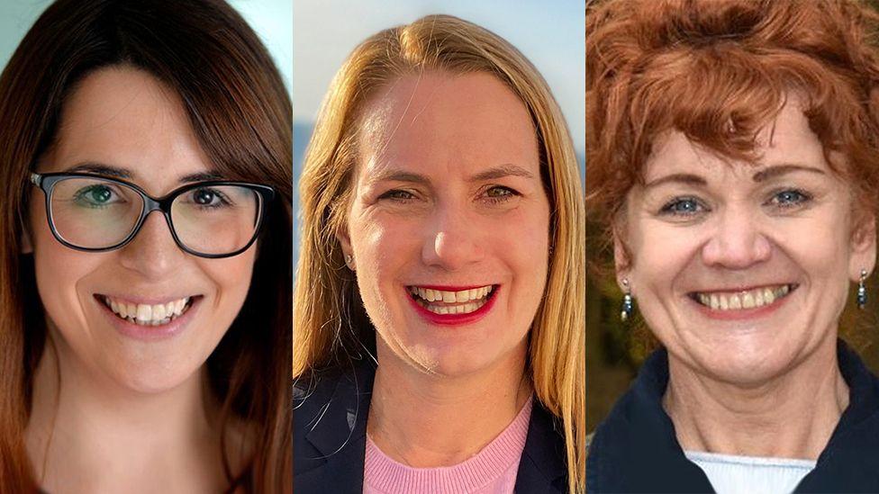 Fay Jones, Virginia Crosbie a Sarah Atherton