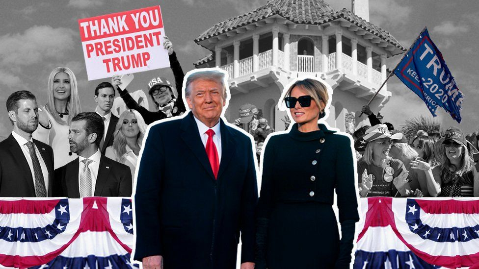 Graphic showing Donald Trump and Melania Trump