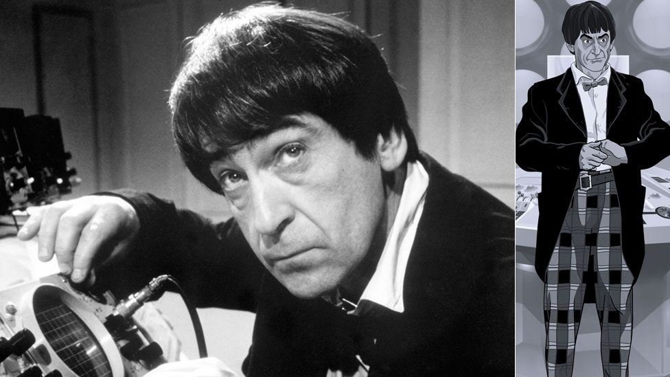 Patrick Troughton in the flesh and in animated form