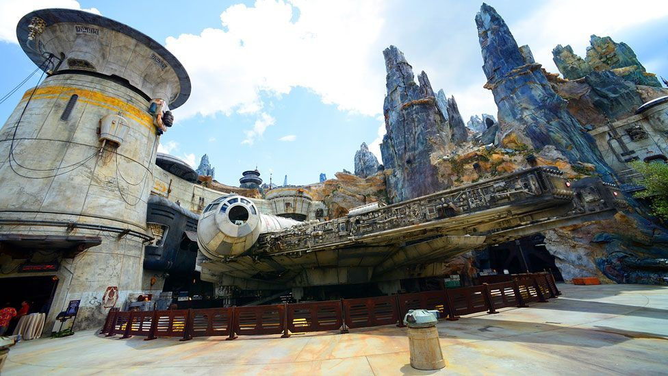 An exhibit at the Star Wars: Galaxy's Edge attraction at Disney's Hollywood Studios in Orlando