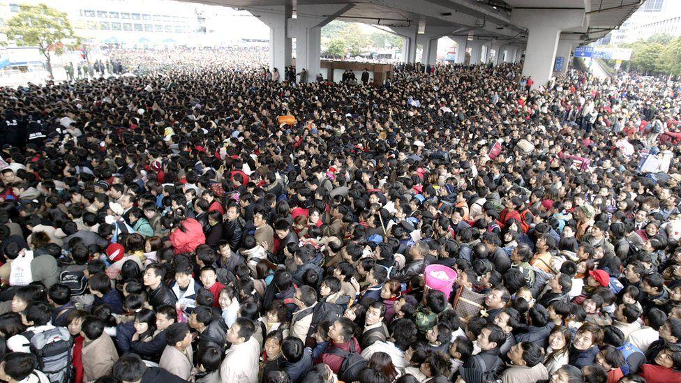 12 impresionantes imágenes que muestran cuán abarrotada de gente está China