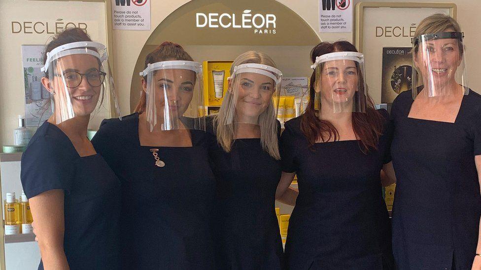 Michaela Bartlett and her beauty team