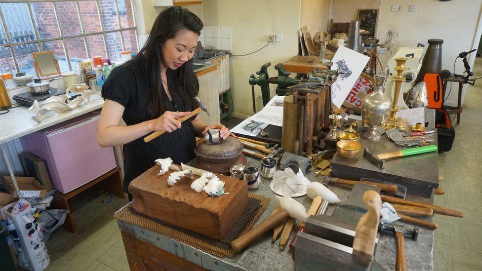 Theresa Nguyen at work