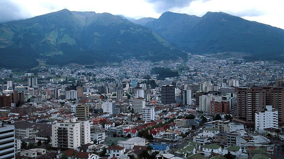 Ecuador, Quito, City Skyline
