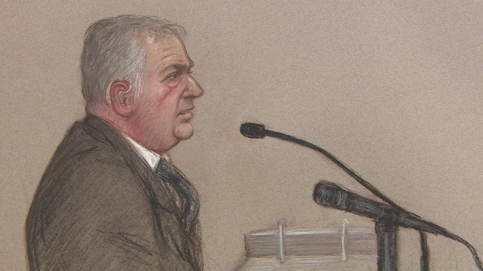 Court drawing of Andrew Gavaghan