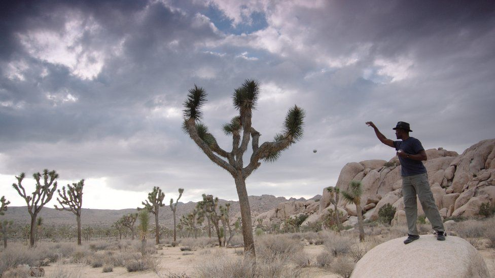 Clifford Johnson from USC in the Joshua Tree national park, California