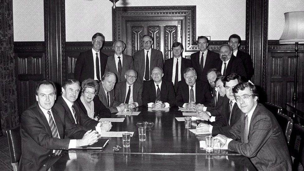 Neil Kinnock's Shadow Cabinet in 1988