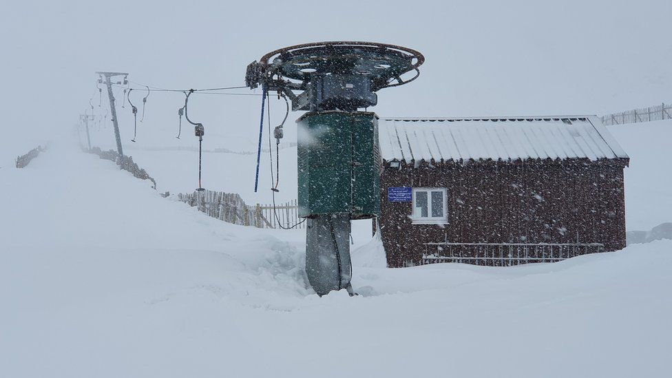 Snowy Glencoe Mountain