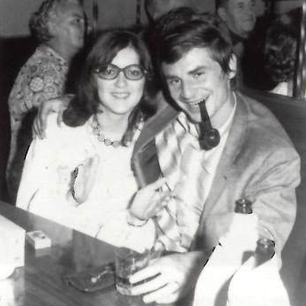 Erwin van Haarlem with a girlfriend