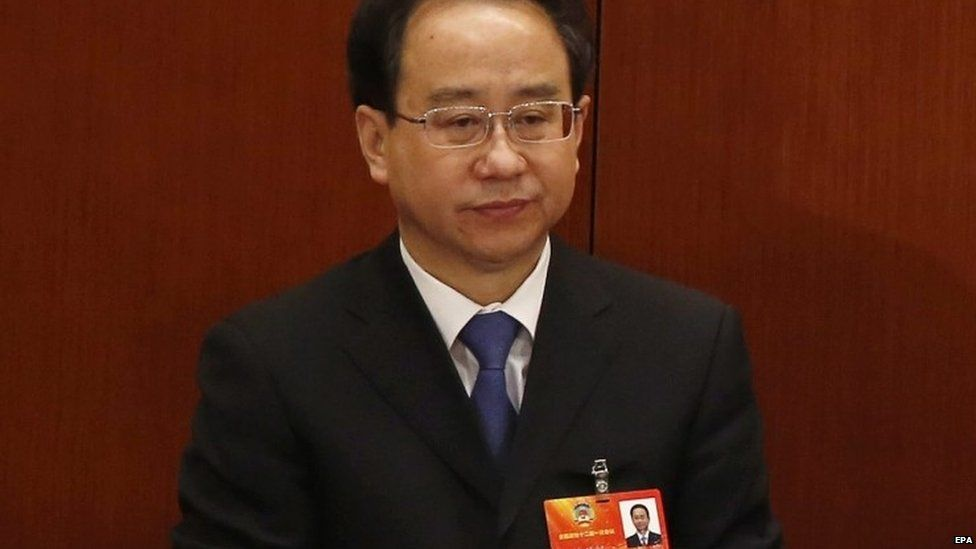 Ling Jihua, aide to former Chinese President Hu Jintao, pictured in the Great Hall of the People in Beijing