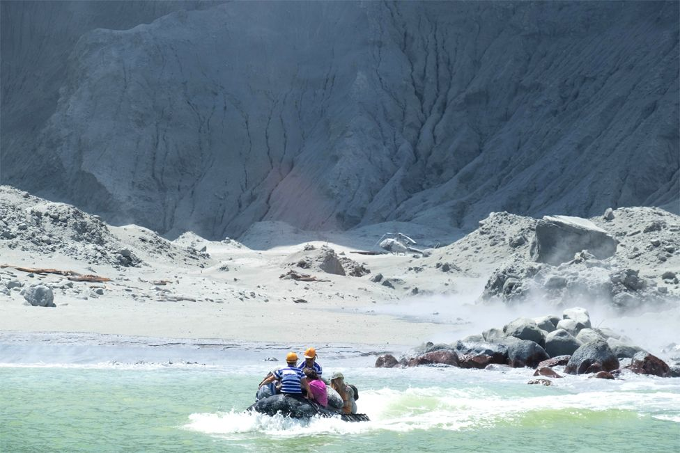 White Island Tour operators rescuing people