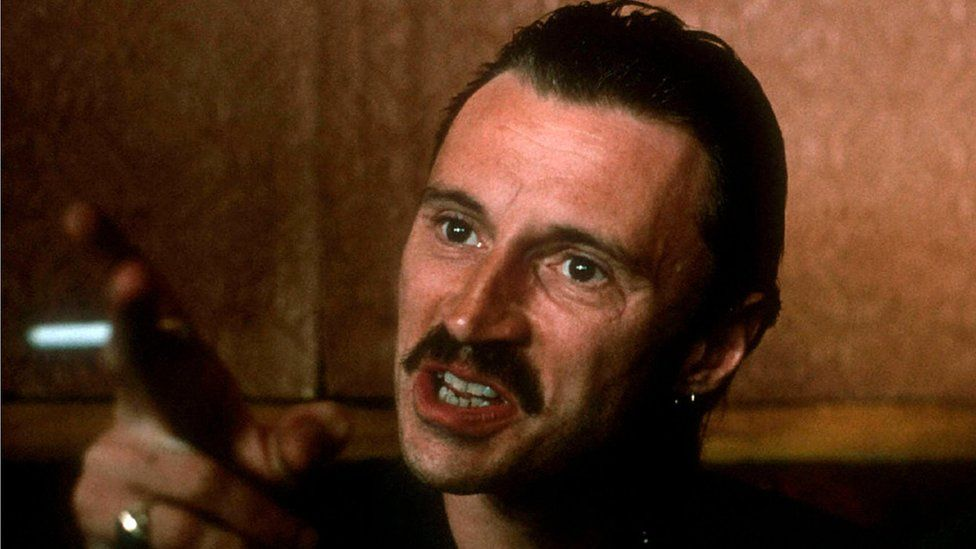 Robert Carlyle as Begbie in Trainspotting