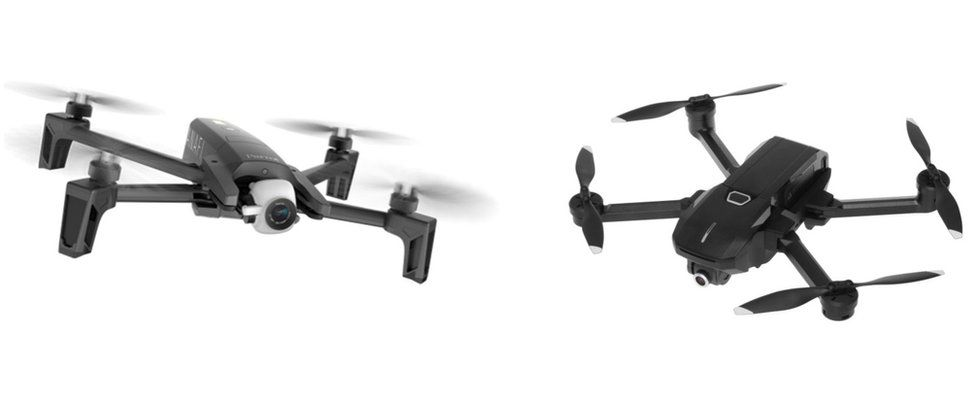 Parrot and Yuneec drones