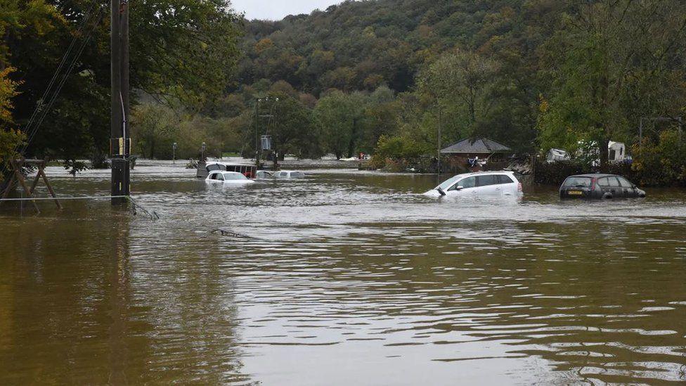 Flooding at Llandysul