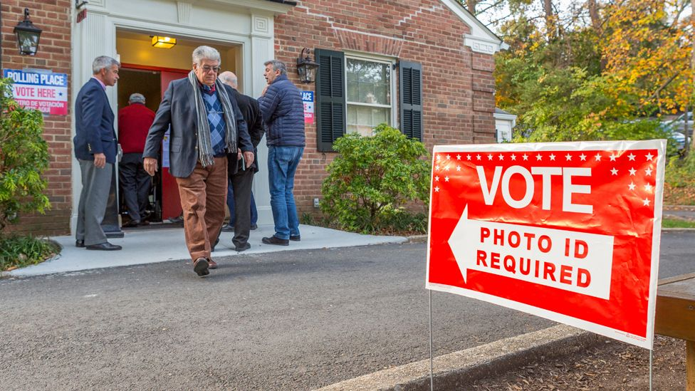 Voter ID plling place in Virginia