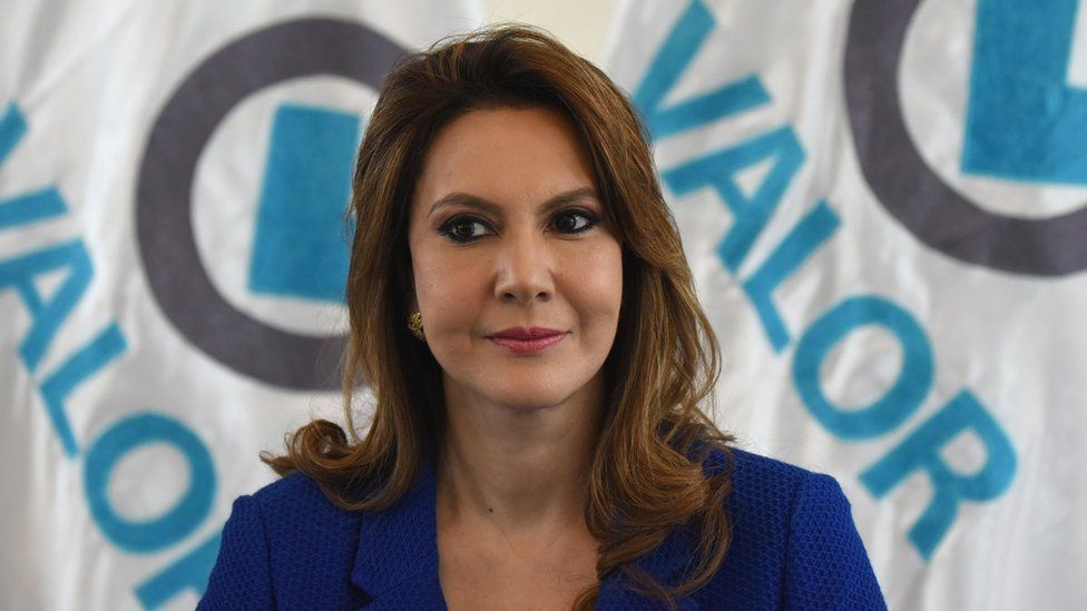 Zury Rios during a news conference in Guatemala City on March 13, 2019.