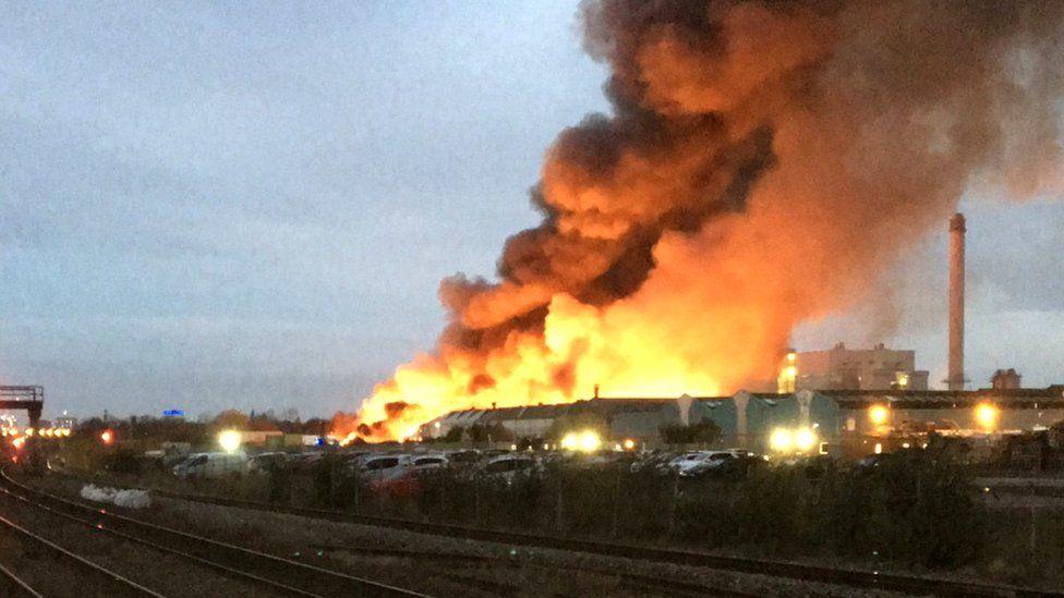 Fire in Tyseley