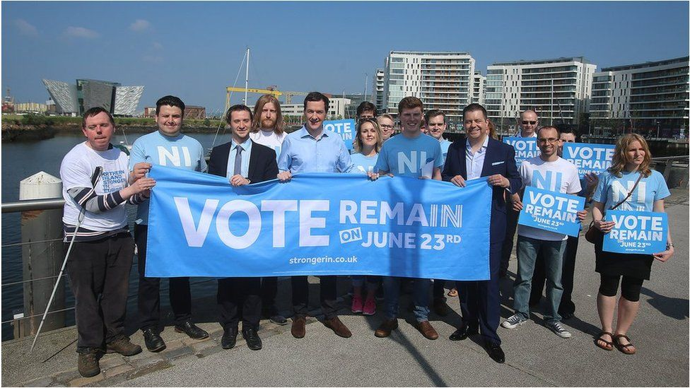 George Osborne with Vote Remain supporters