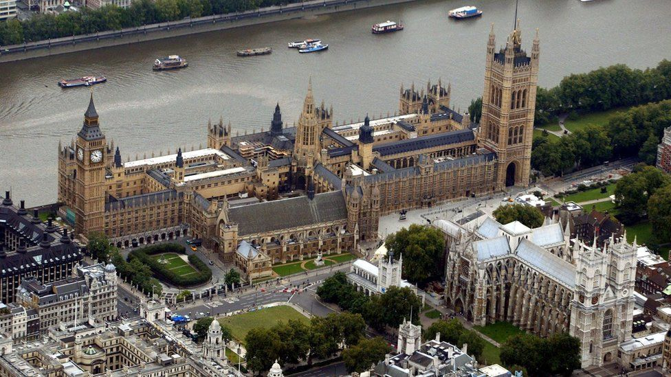 Aerial view of Westminster