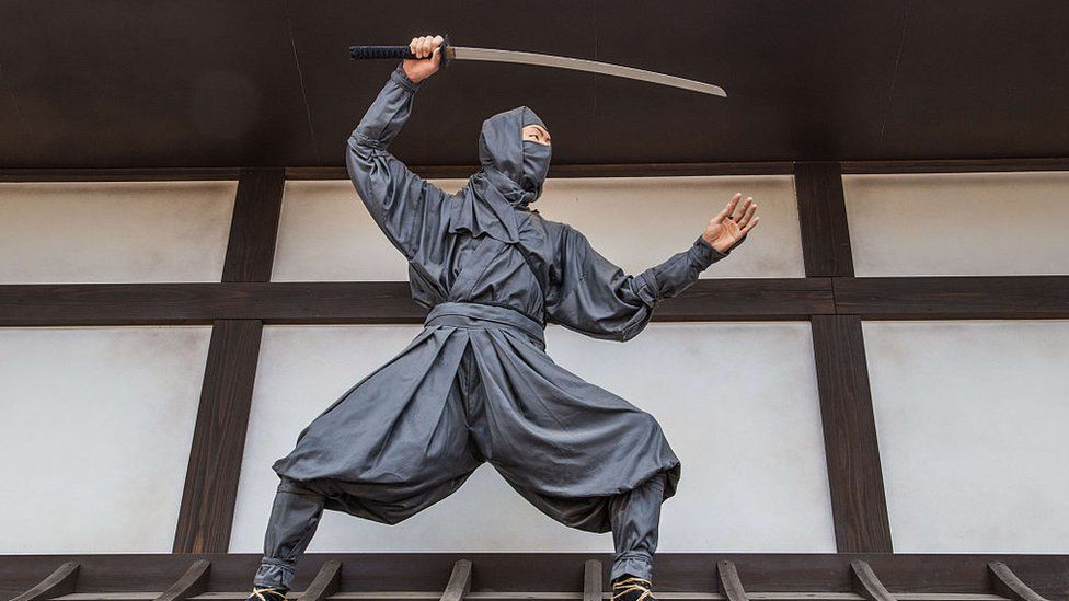 Ninja at Toei Studio Park or Toei Uzumasa Eigamura - a film set and theme park in Kyoto.