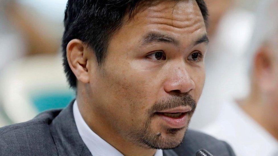 Philippine Senator and boxer Manny Pacquiao