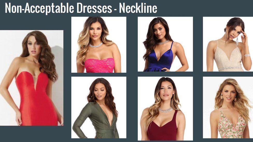 Photo of unacceptable prom wear.