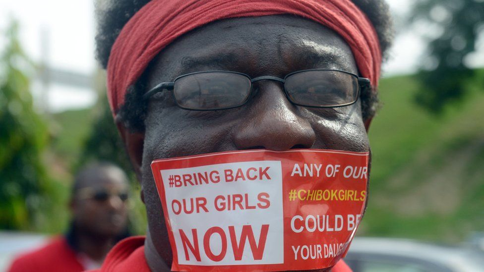 A Bring Back Our Girls campaigner in Abuja, Nigeria in 2014