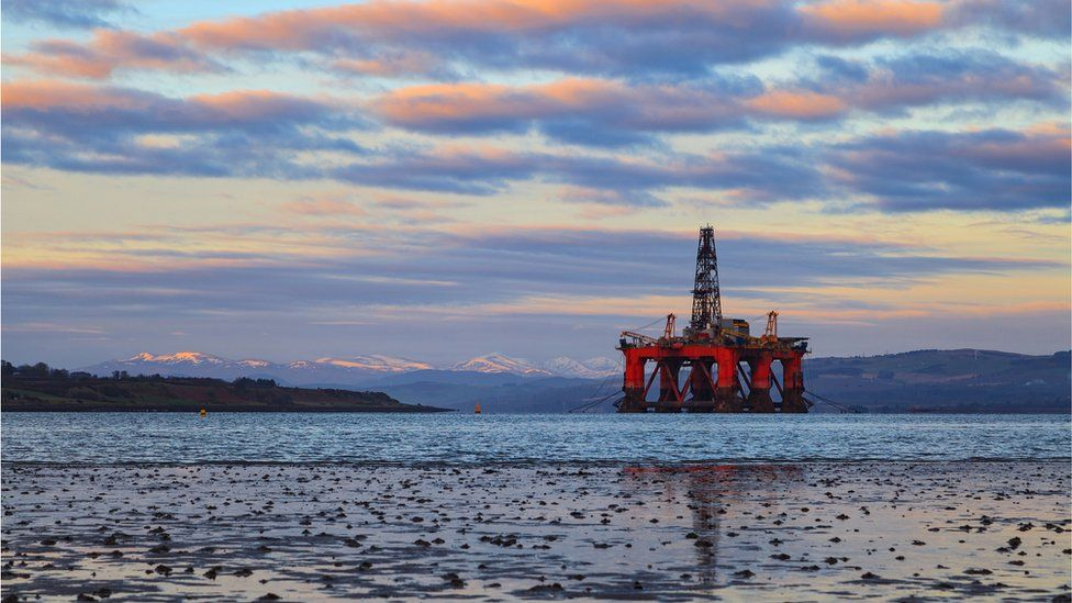 oil rig in Cromarty Firth