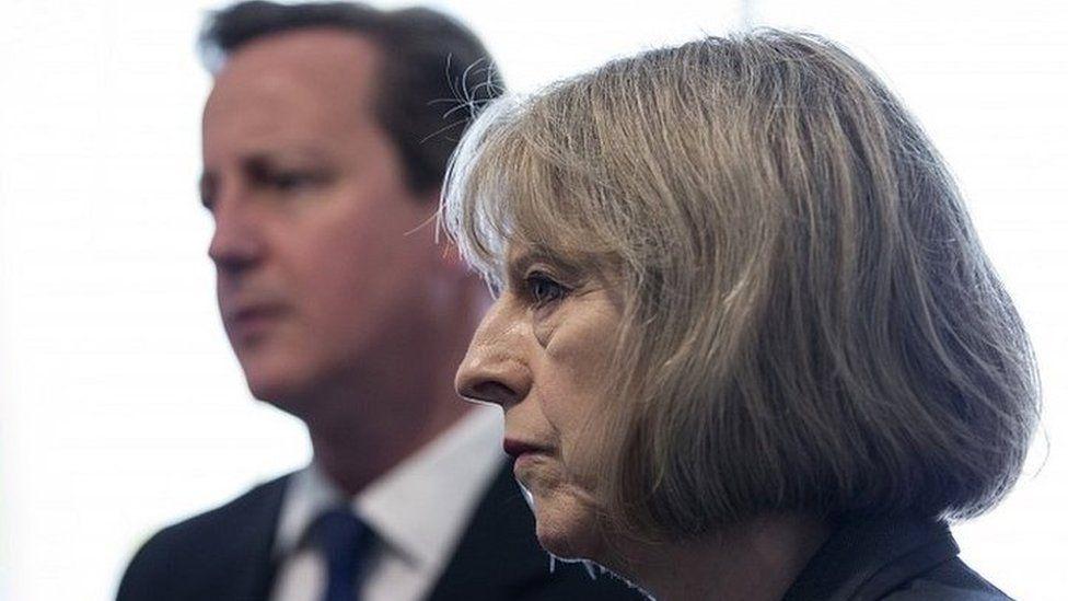 Theresa May and David Cameron in 2014