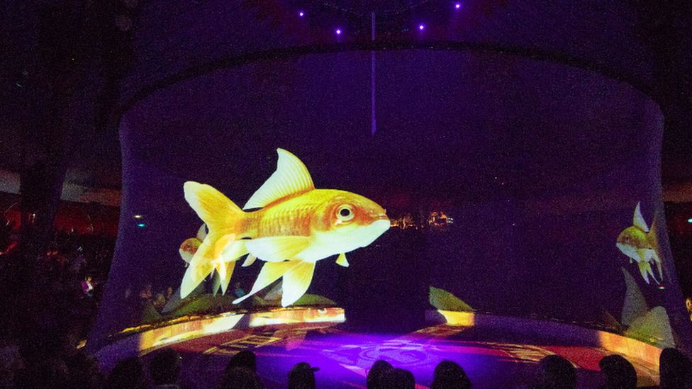Image result for german circus using holograms