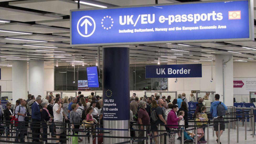 Gatwick airport passport control, file pic