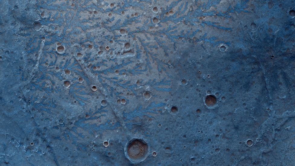 Floor of the Antoniadi impact crater