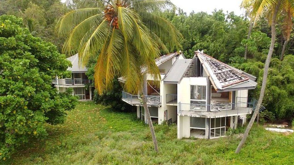 The hotel on Dunk Island