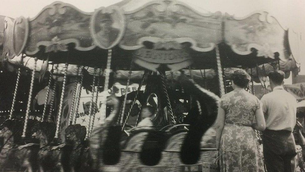 Merry-go-round when in use