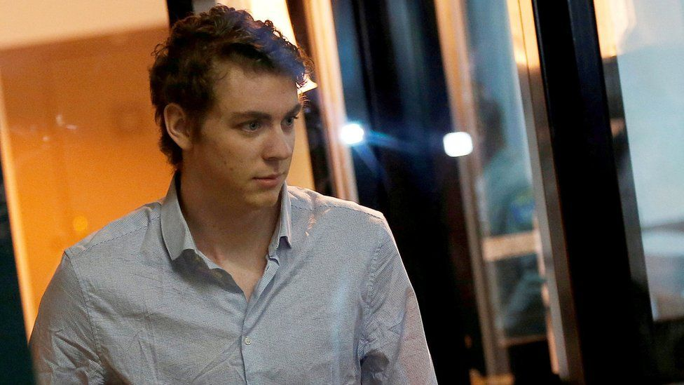 Brock Turner, former Stanford swimmer convicted of sexually assaulting an unconscious woman, at Santa Clara County Jail on 2 September 2016