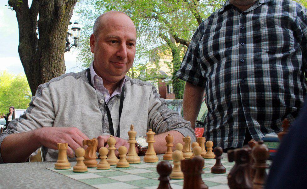 David Edmonds playing chess