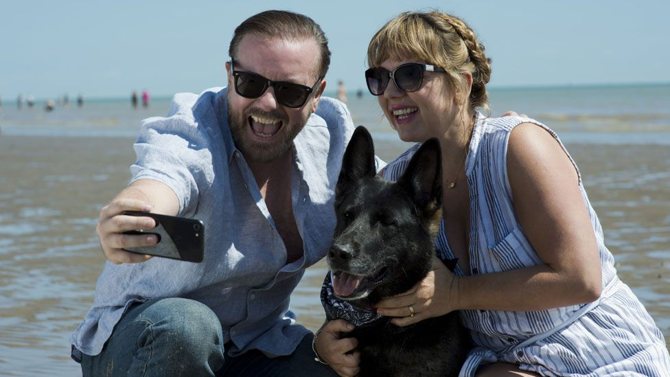 Ricky Gervais and Kerry Godliman