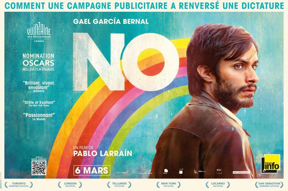 "The promotional poster for the film ""No"""