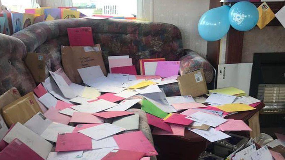 flood of birthday cards