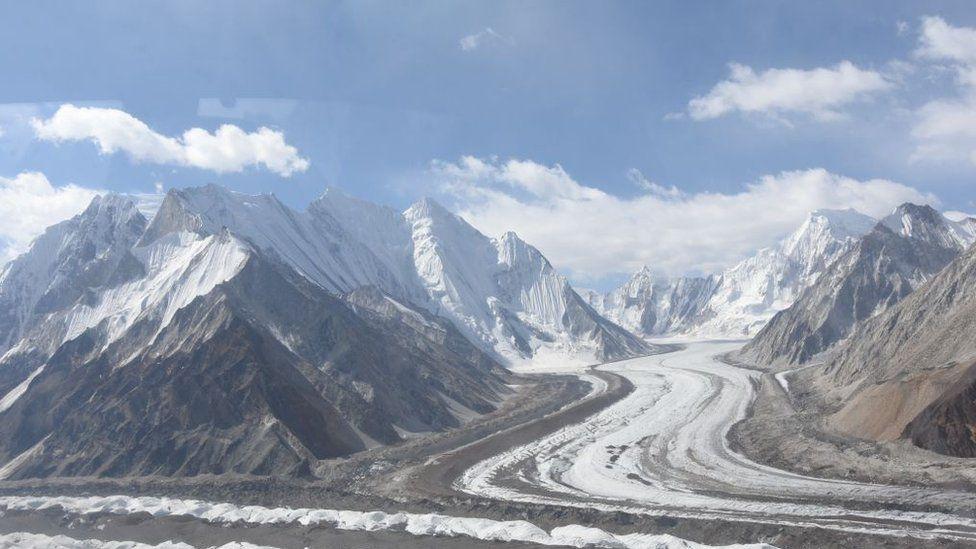 The Siachen glacier in Kashmir